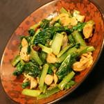 ネパール家庭料理 ホワイトヒマラヤ - チキンサグブトゥワ(700円)2017年2月