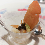 レストラン・ブリーズ・ヴェール - カリフラワーのデクリネゾン、キャビアを添えて