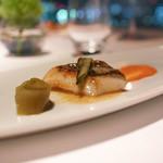 レストラン・ブリーズ・ヴェール - 的鯛のポワレ香草風味、ポロねぎのプレ是とロメスコソース
