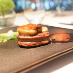 レストラン・ブリーズ・ヴェール - 牛フィレ肉とフォアグラのロッシーニ風