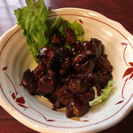 新宿甲州屋蕎麦店 - 料理写真:山梨といえば、そう、鳥もつです('17/02/18)
