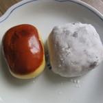 岡埜榮泉 - 栗饅頭 270円 & 豆大福 249円