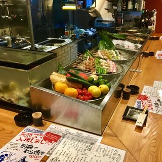新鮮な魚貝料理と、地元で採れる新鮮野菜が自慢♪
