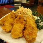 御料理処 青木 - 風味のない牡蠣フライ
