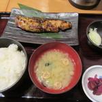 魚の旨い店 - 寒鰤のこんぶ醬油漬け焼き定食 790円