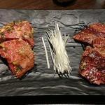テヤン - 料理写真:和牛上ロース1520円&和牛上ハラミ1620円。