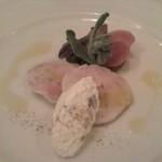 オ・プレチェネッラ - ウサギのガランティーナ リコッタチーズ添え