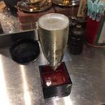 焼きはまぐりSTAND - 樽生スパークリングワイン プレーン 480円(税込)