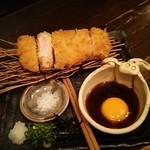 62800197 - 芳寿豚の極上ロースとんかつ特製黄身おろしポン酢