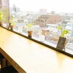 イエノウエノカフェ - 東京スカイツリーが何故か見えない、眺望カウンター席