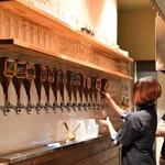 ティルナノーグ - カウンター内にドラフトビールの注ぎ口が