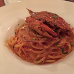 Lucci - 渡り蟹のトマトクリームソース タリオリーニ