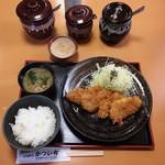 手打ちとんかつ かついち - ヒレかつ定食  ¥1166
