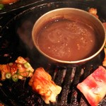 ソソカルビ 牛天 - 1702 ソソカルビ牛天 おまかせ盛3人前@7,500円 真ん中のタレが美味しい!!