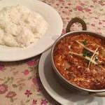 インドレストラン フードランド - マトンドピアザ、ライス