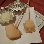 やきとり 戎 - 「マンチェゴチーズ」「マオンチーズ」各180円