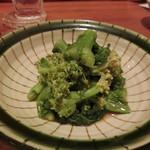 やきとり 戎 - 「菜の花のからし和え」330円