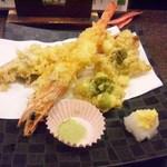 設楽 - 2017.02車海老&蕗の薹の天ぷら