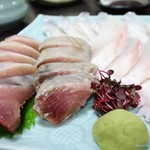 黒潮丸 - 2016年12月 刺身(太刀魚、かつお、こしょうだい)【ブログ割で900→500円×3】