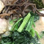 うまいヨゆうちゃんラーメン - 【2017.2.12】ほうれん草とキクラゲ。