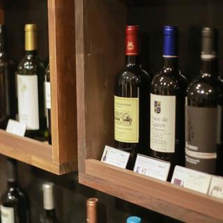 ワインを自分で選んで楽しめます♪