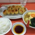 62829780 - 大盛りご飯と卵スープで933円