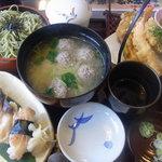 和食レストランとんでん - 活ほっき鮨・天ぷら膳