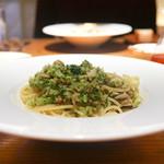 62830931 - 長崎産瑞穂牡蠣とブロッコリーベーコンのスパゲティ
