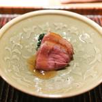 神楽坂 石かわ - 料理写真:滋賀の真鴨とほうれんそう