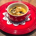 62833123 - 仔ウサギと牡蠣の洋風茶碗蒸し フォアグラ クリュ添え