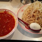 蒙古タンメン中本 - 冷し味噌ラーメン+麺超特大+チャーシュー1枚+スライス玉子(LINEクーポン)