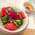 イスタンブール - ランチのサラダ、スープ