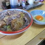 蛸ん壷 - 和牛が盛り沢山‥‥蛸ん壺のすき焼き ¥200