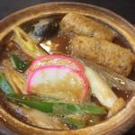 手打道場 高砂 - 料理写真:味噌煮込みうどん親子780円