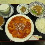 しんちゃん - 海老チリランチセット