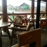 茶房 竹の子 - テラス席もあります