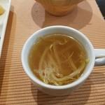 ちこり村 - もやし入りカレー風味のスープ