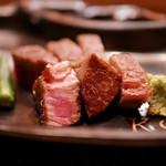 GINZA KOSO - 特選黒毛和牛のフィレステーキ 有機野菜添え