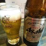 和食 いのうえ - 瓶ビール(スーパードライ) 600円+税