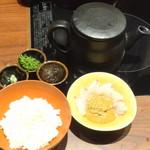 京都 瓢喜 - 食事(鯛茶漬け)