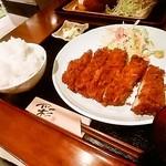 まるいち亭 - チキンカツ定食(ごはん大盛)