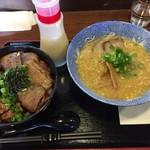 62861548 - 明神そば&チャーシュー丼