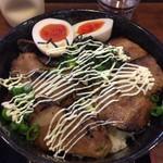 明神そば - チャーシュー丼(マヨマヨ施工後) かなりボリューミ―^^;