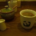 62861831 - ホットコーヒーと砂糖&ミルク