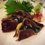 ごっ馳 - 鰹の炙りたたき(塩)