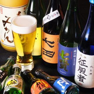 全国から厳選した日本酒・焼酎