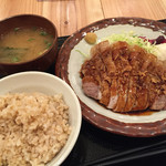 こぼうず - 桃豚ロースのトンテキ定食(1,000円)