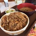 すき家 - 牛丼並 しじみの味噌汁 漬けもの