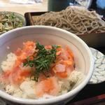 あたりや食堂 - ミニ海鮮丼セット980円
