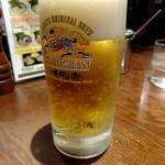 とんぱた亭 - 生ビール